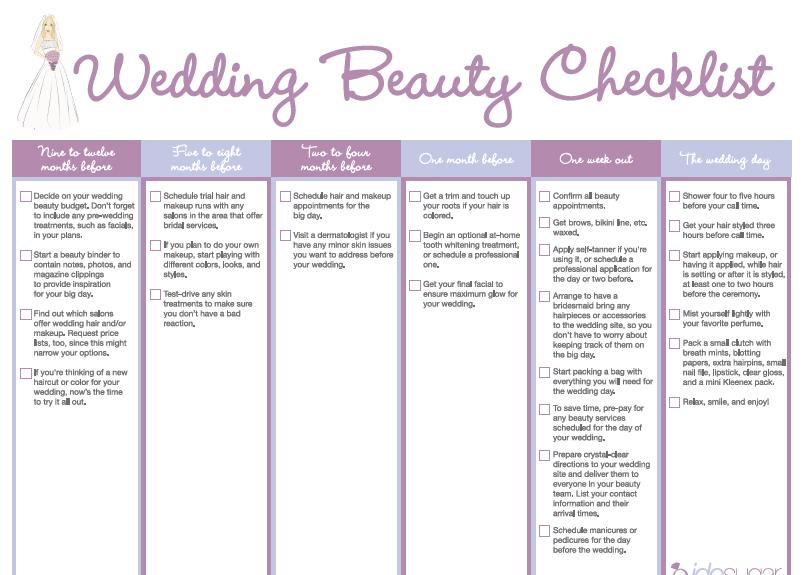 Bridal Beauty Checklist Http Images Teamsugar Static