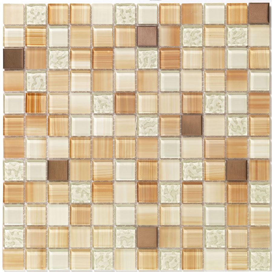 Harvest Blend Diy Backsplash Kit Includes Tools Premixed Grout 12x12 Inch Tile Sheets With A Self Adhe Diy Tile Backsplash Glass Mosaic Tiles Mosaic Glass