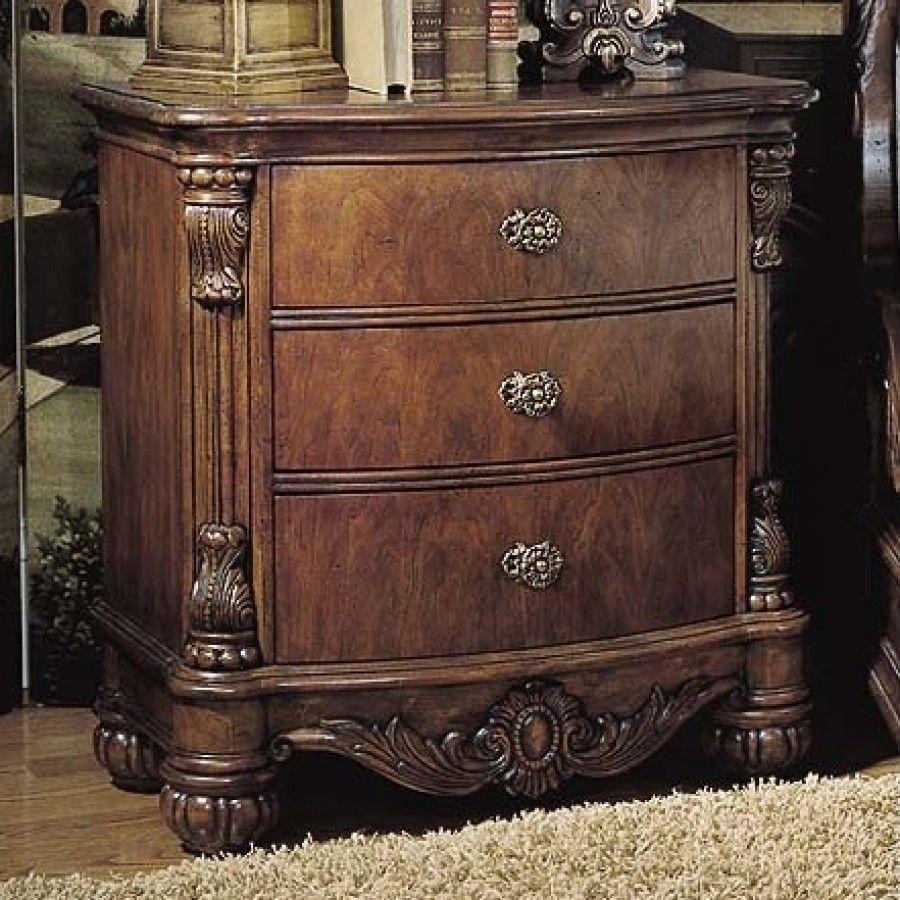 Pulaski Edwardian Bedroom Furniture Pulaski Edwardian 3 Drawer Nightstand 242140 Drawers And Change 3