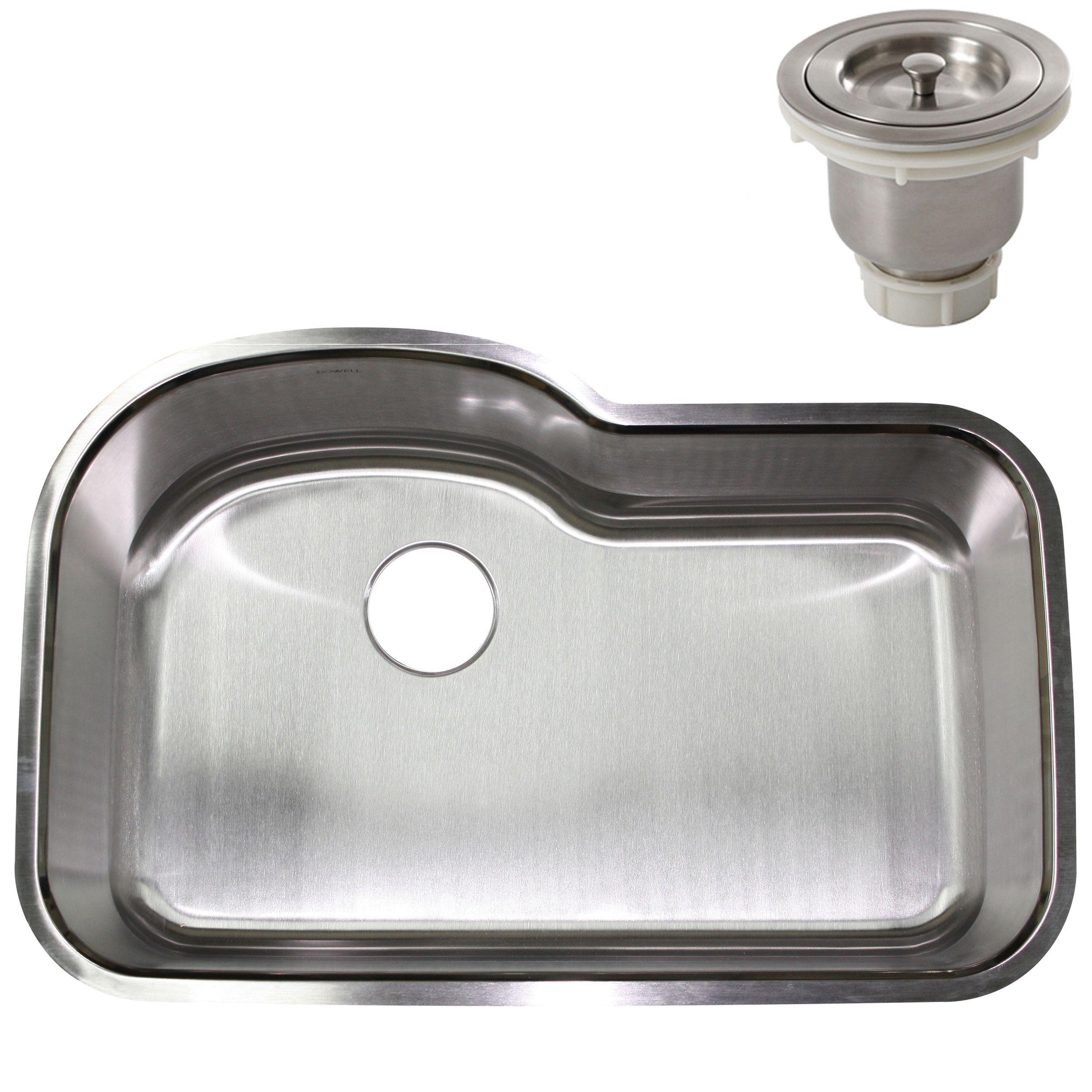 32inch stainless steel undermount single bowl kitchen