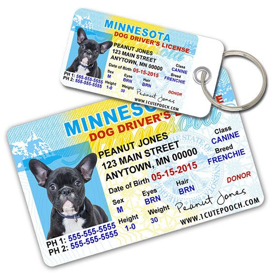 Id Minnesota License Driver Pet Personalized Tags - And Tags Custom Wallet Tag Card Dog Pet