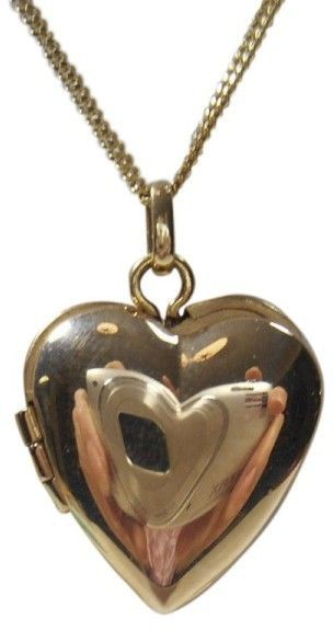 4b9e8c577 Tiffany & Co. 14K Yellow Gold Heart Locket Pendant Charm Necklace ...
