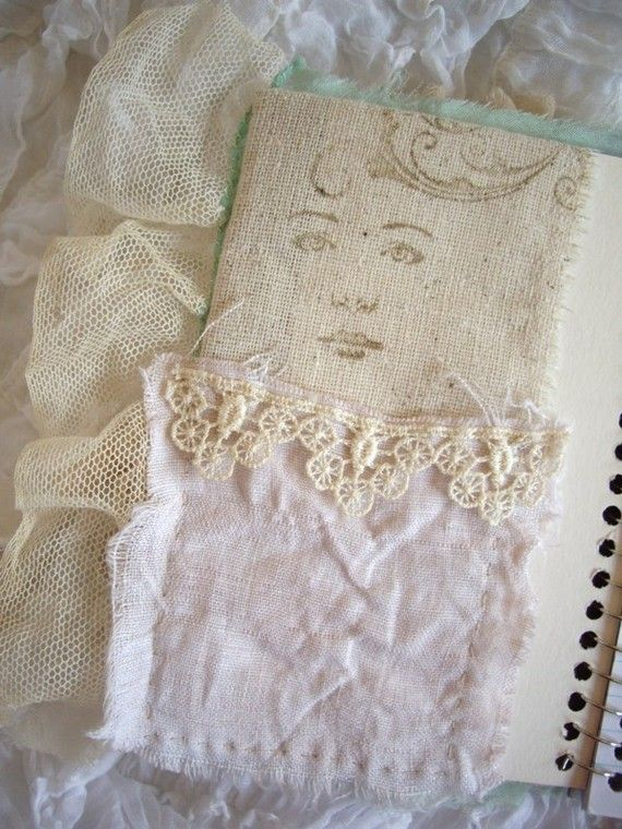 lace journal by tatteredlaces on Etsy