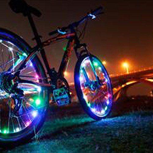 Ledmo Rechargeable Bicycle Bike Rim Lights Led Colorful