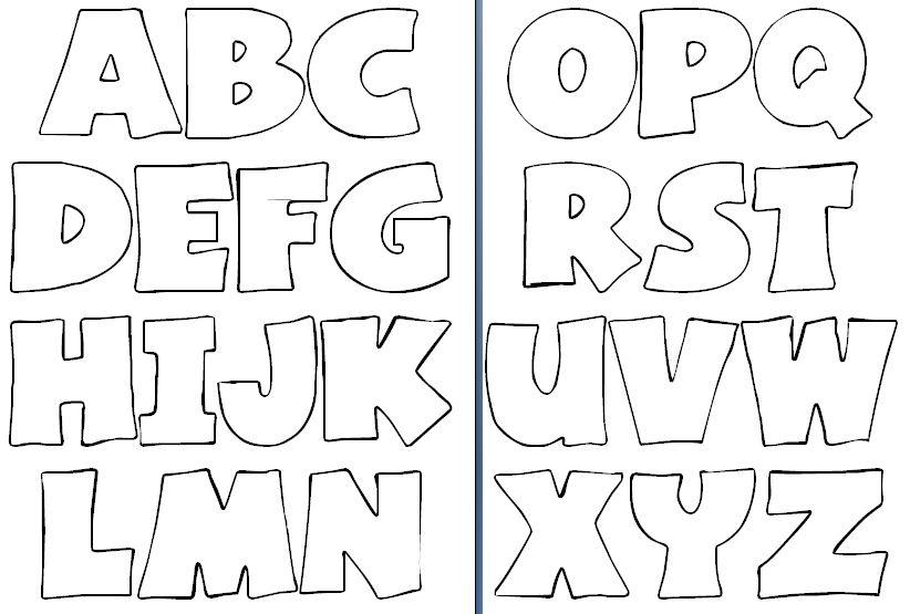 Molde de letras para imprimir y recortar - Imagui | Diy deco ...