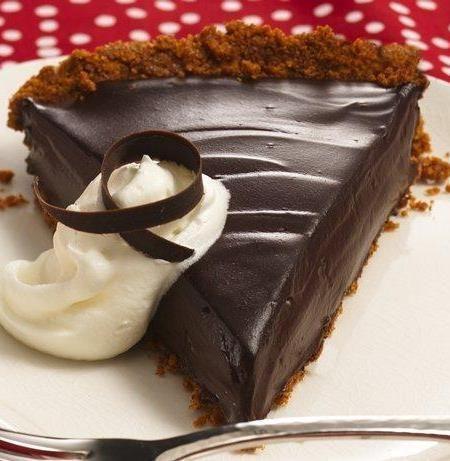 Creamy Dark Chocolate Pie, #Chocolate, #Creamy, #Dark, #Pie