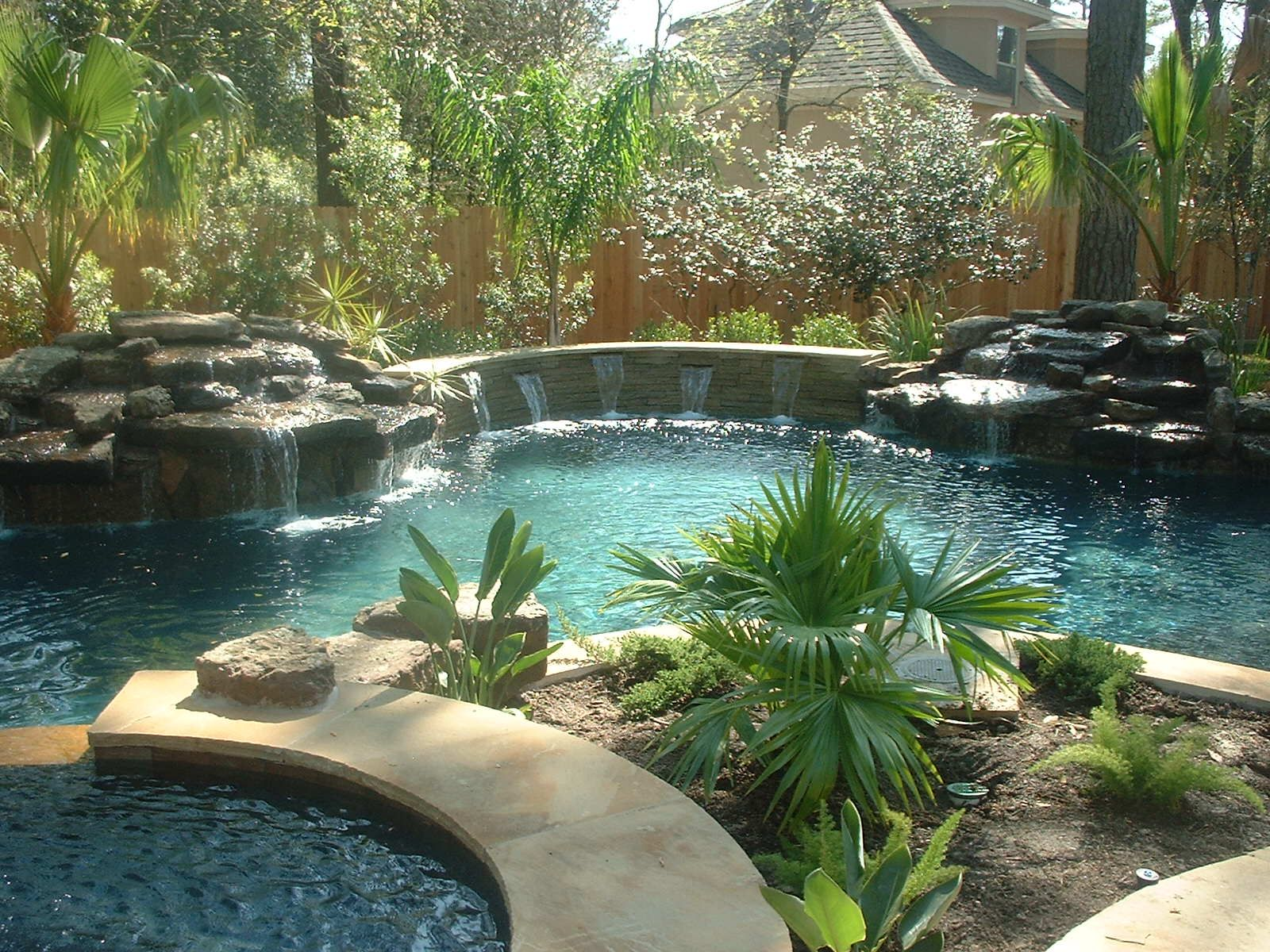 Magnolia Custom Pool Builders freeform pools Houston Caytech