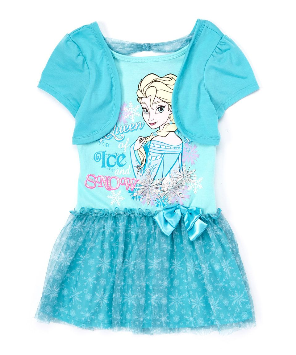 Tea length wedding dress patterns to sew  Look at this zulilyfind Blue Frozen Else uQueen of Ice and Snow