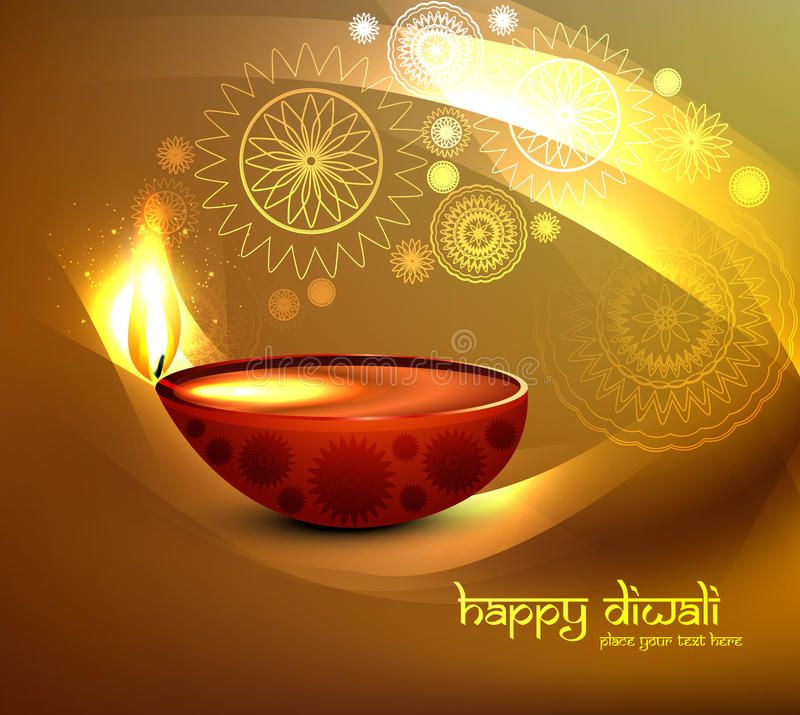 Beautiful Illustration For Happy Diwali Greeting C Stock Vector - Illustration of bright, background: 33696617