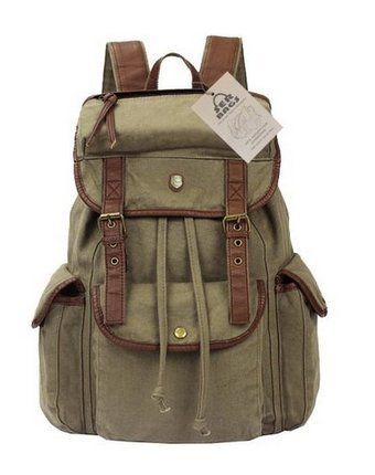 Vintage Canvas Leather Travel Rucksack Military Backpack - Mint Green Serbags http://www.amazon.com/dp/B00EYUB07O/ref=cm_sw_r_pi_dp_iFGNtb0PC5CNC6Z6