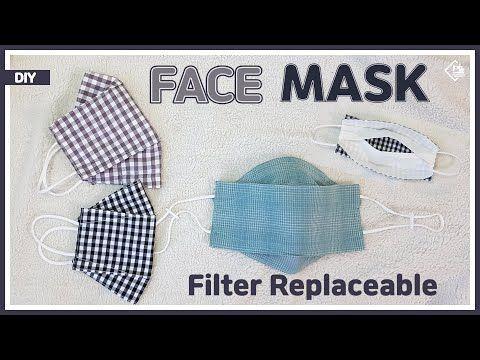 Photo of DIY/ 3D FACE MASK REPLACEABLE FILTER/ MAKE A MASK / FREE PATTERN/ 마스크 필터 교체용 마스크 만들기/ 패턴공유