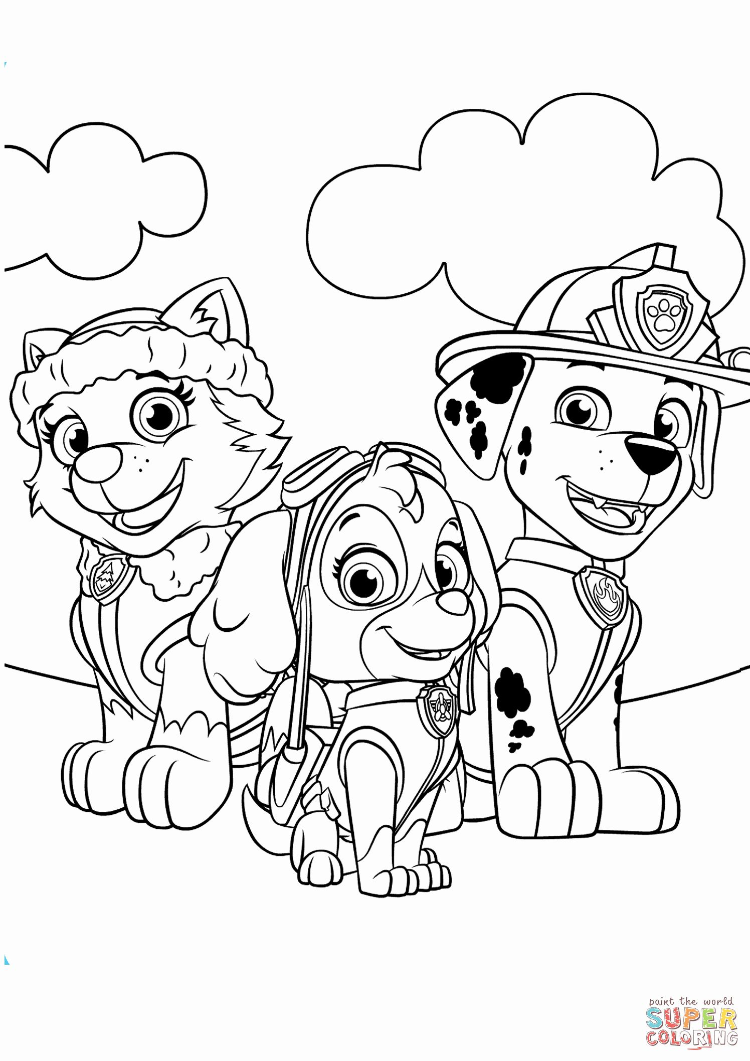 Paw Patrol Skye Coloring Page Best Of Everest Marshall And Skye Coloring Page Paw Patrol Coloring Paw Patrol Coloring Pages Sky Paw Patrol