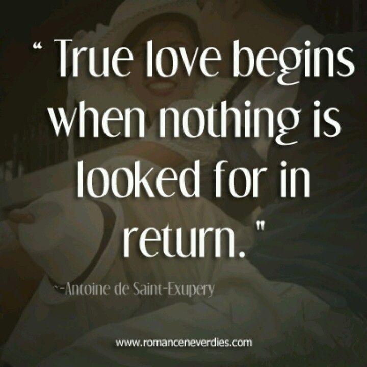 True love is selfless