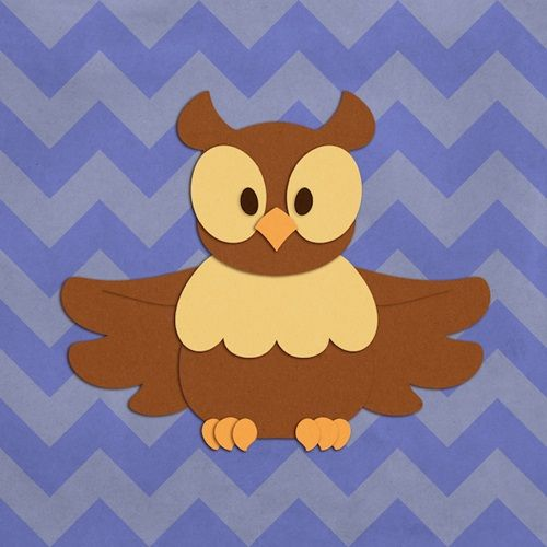 """""""Owl - Woodland Creatures"""" canvas and poster wall art by Circle Kids, from our Cartoon Animal Wall Art Collection. Available in 12"""" x 12"""" poster prints up to 20"""" x 20"""" canvas wraps, check it out at CanvasOnDemand.com."""