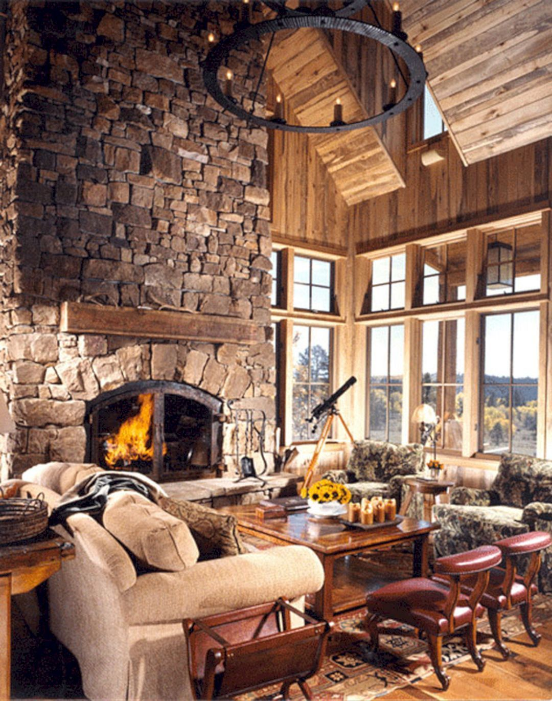 superb cozy and rustic cabin style living rooms ideas no
