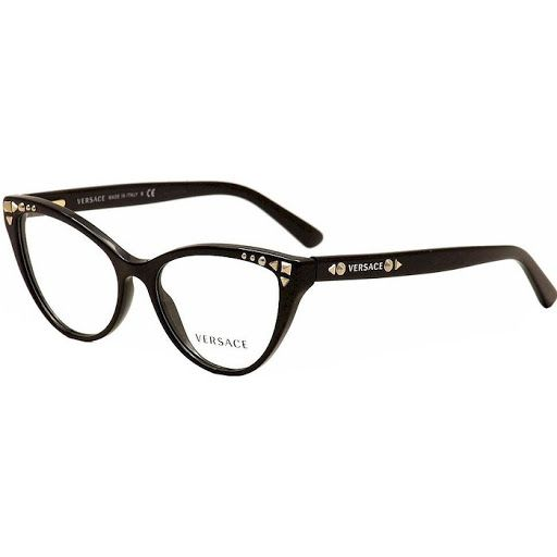 21a42e0887c8a Versace Womens Black Frame Non-Polarized Eyeglasses (VE3191 ...