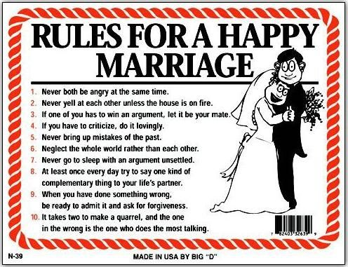 Amazon Com Rules For Happy Marriage Funny Humorous Plastic Sign 12 X9 N 39 Marriage Humor Happy Marriage Funny Signs