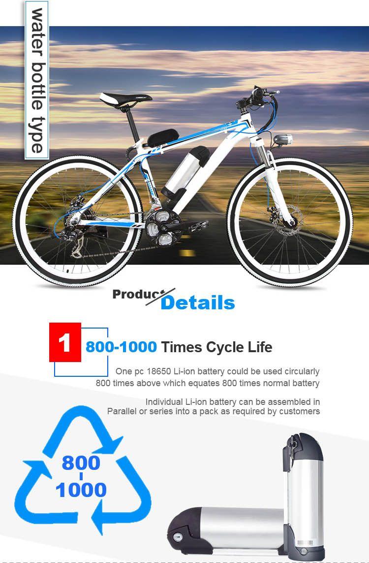 Us Eu Free Tax 36v 10ah Water Bottle Electric Bike Battery 36v