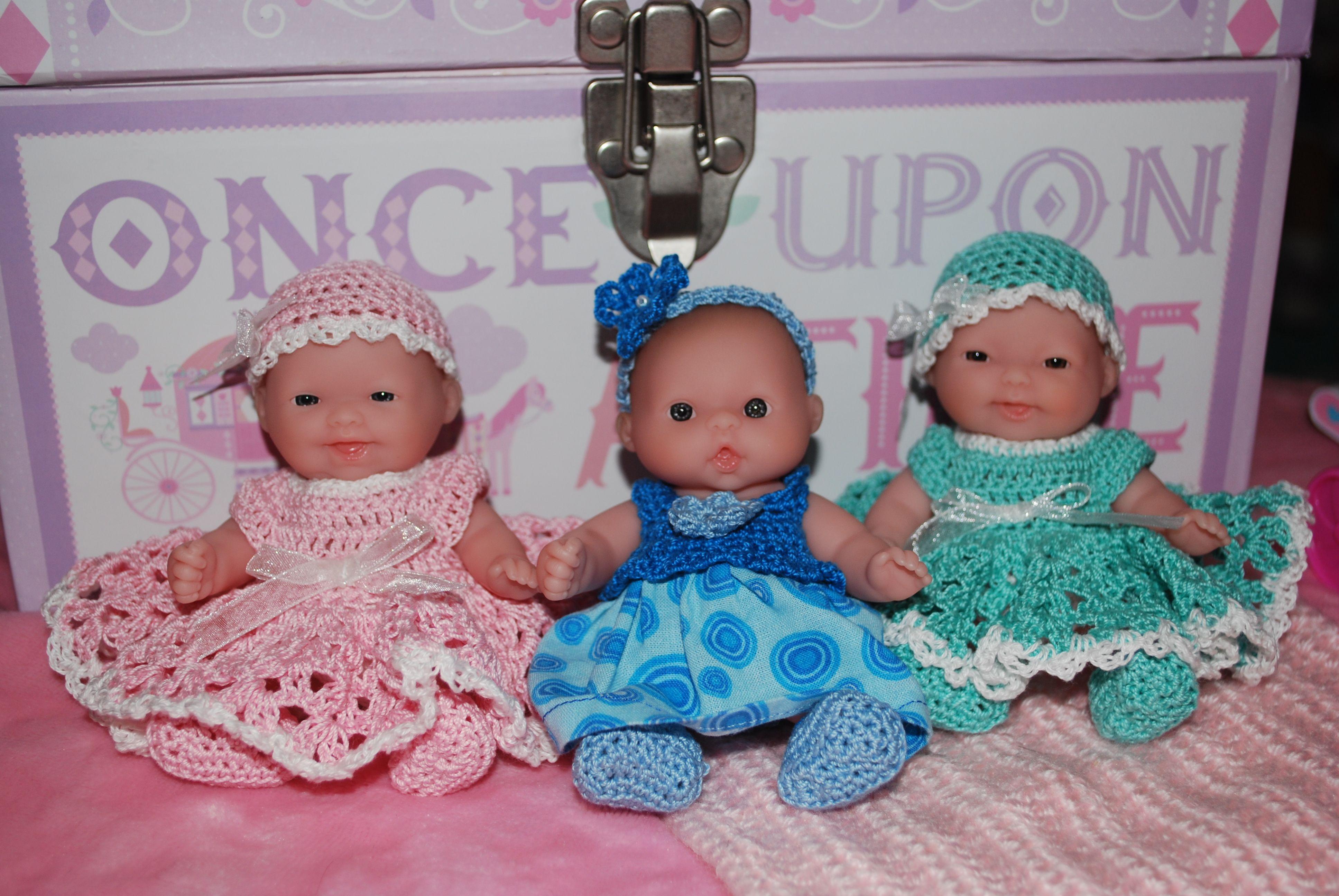 three of my Itty Bitty Berenguer 5 inch dolls