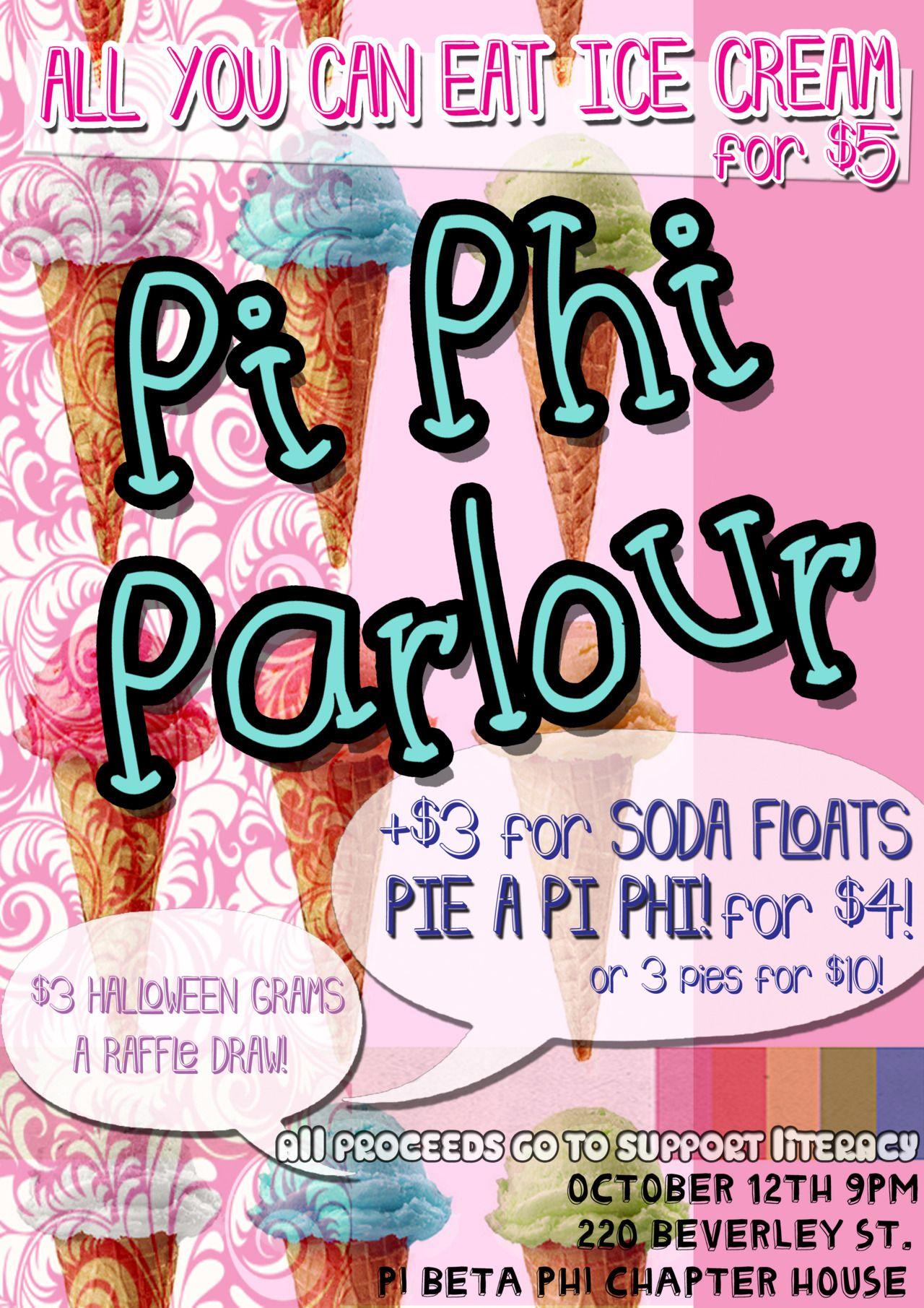 pi phi parlour- cute philanthropy idea #piphi #pibetaphi | pi beta