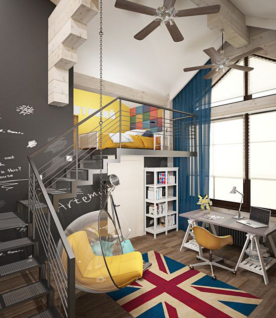 15 Extraordinary Industrial Kids Room Designs To Accommodate Your