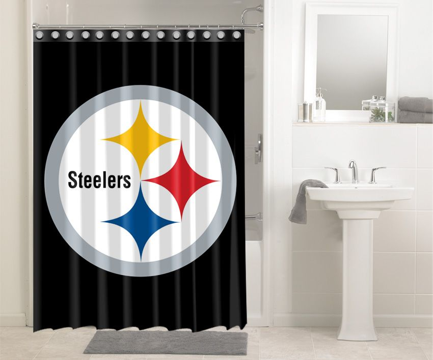 Pittsburgh Steelers Nfl Football 531 Shower Curtain Waterproof Bathroom Decor Steelers Small Bathroom Decor