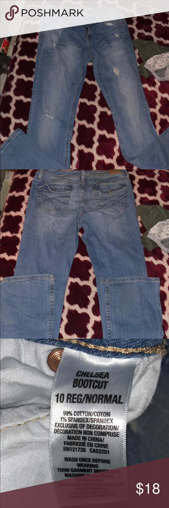 d11fa05ac2e Aeropostale jeans Light wash distressed/damage style . Chelsea boot cut .  EUC. Regular length. Aeropostale Jeans Boot Cut