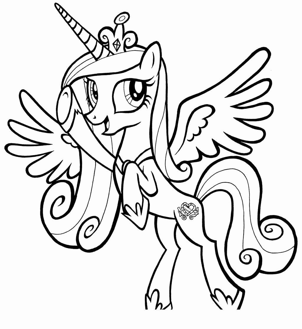 Princess Cadence Coloring Page Unique My Little Pony Princess