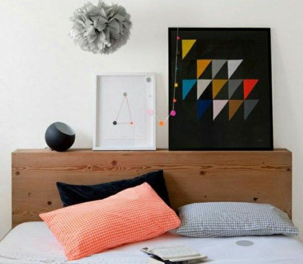 kopfteile fr betten coole eigenartige designs schlafzimmer kopfteil bunt gepolstert urban geometrisch - Hausgemachte Kopfteile Fr Betten
