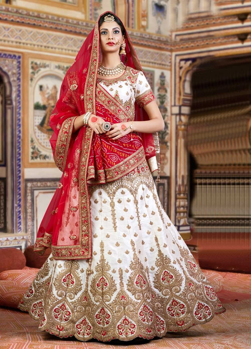 27396ec6df 2017 Bollywood style bridal wear chaniya choli in silk | Art of ...