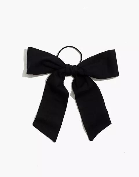 Oversized Bow Hair Tie Black Hair Bows Hair Ties Hair Elastics