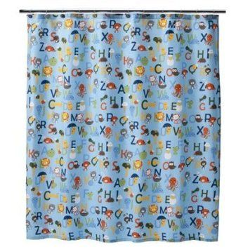 $50 Amazon.com: Letters of the Alphabet & Animals Shower Curtain ...