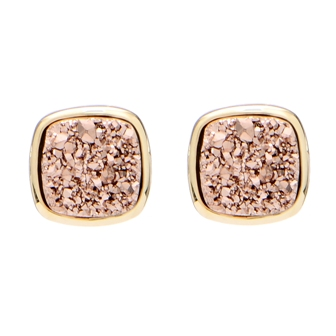 Copper druzy studs Great for those who love the rose gold aesthetic