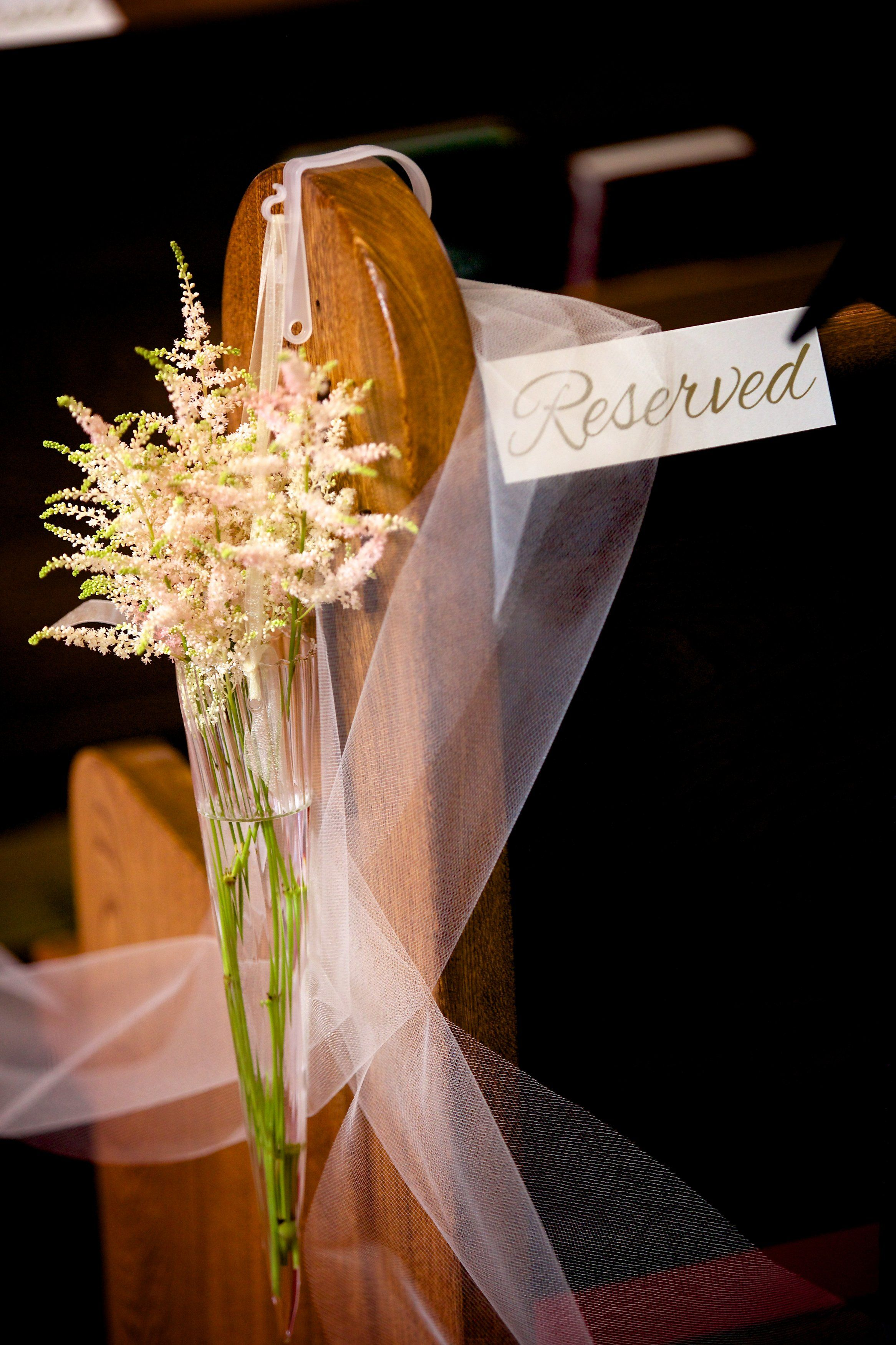 Dawn Sparks Photography Sweet Pea Flowers Denver Astilbe Pew Decorations Wedding