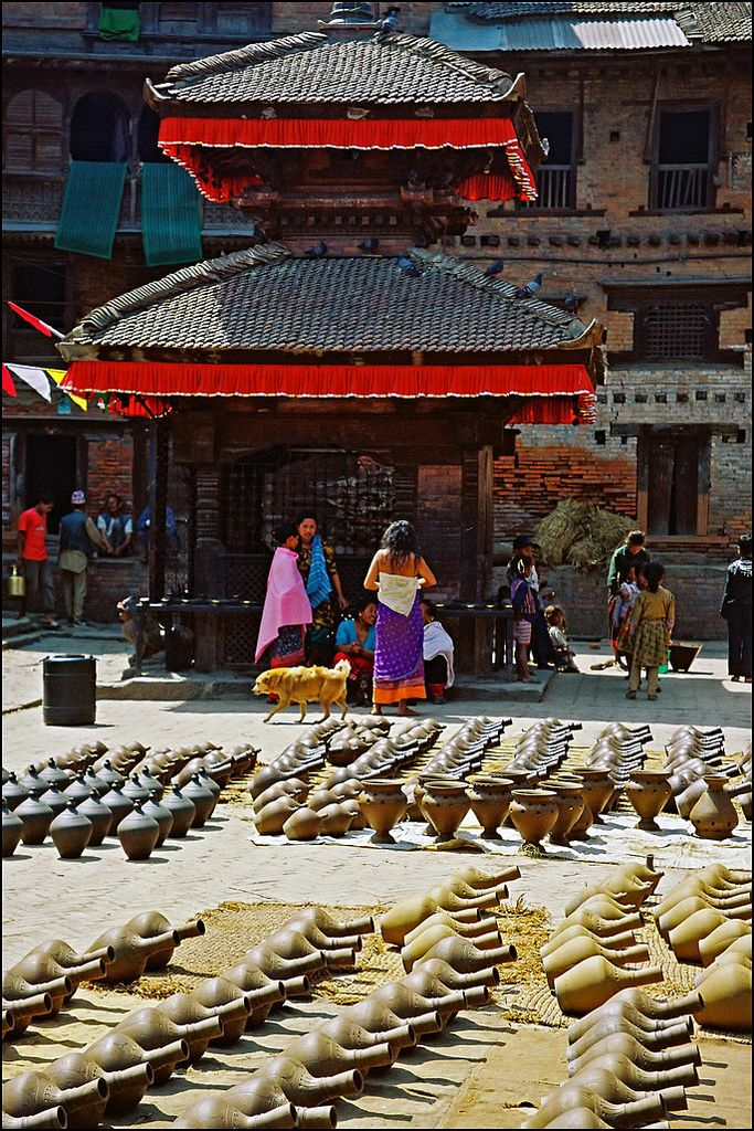 Pottery for sale . Nepal