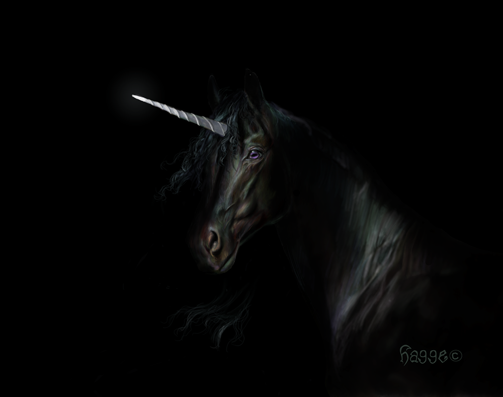Out Of The Shadows Unicorn II By Hagge.deviantart.com On