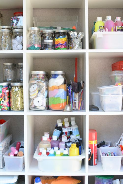 Charmant One Crafty Momu0027s Quest To Organize Her Art Supplies | Organize Art Supplies,  Art Supplies And Organizing