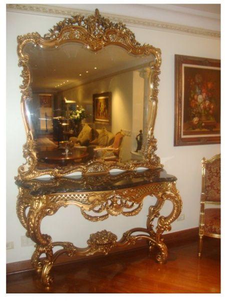 Aparador Pequeno Com Espelho ~ Aparador Luiz XV dourado N Vidros, Cristais, Baccarat e Espelhos Pinterest Aparador