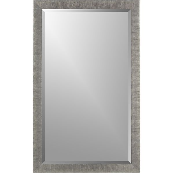 Bathroom Mirrors Crate And Barrel silver birch rectangular wall mirror | birch, crates and barrels