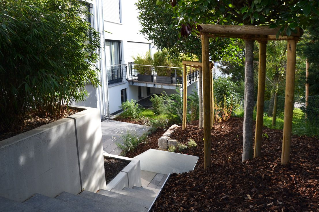 Wundervoll Heim Galabau | Moderne Gartengestaltung Am Hang