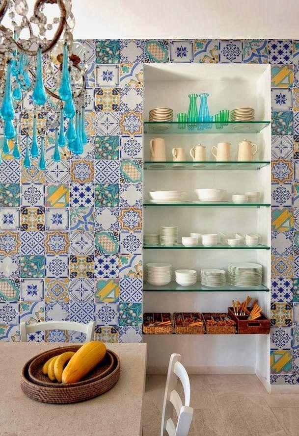 Style notes maioliche colore stile mediterrano for Maioliche cucina
