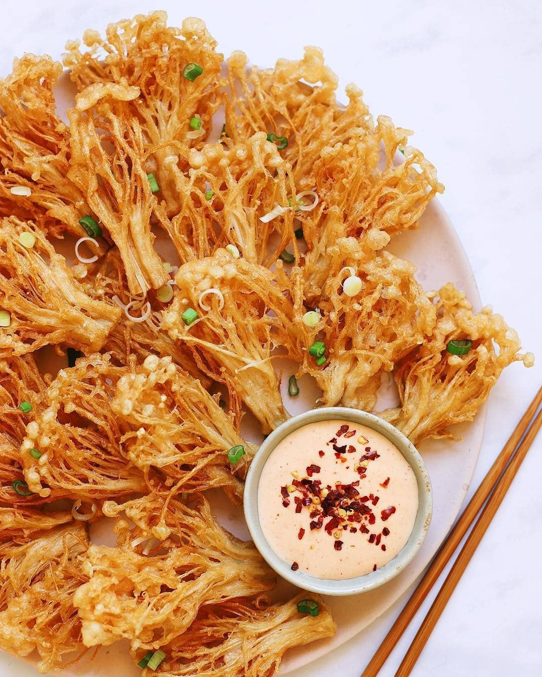 Daily Vegan Recipes On Instagram Crispy Enoki