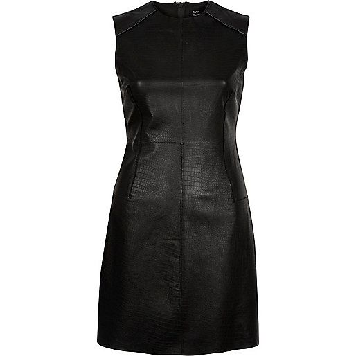 Black Design Forum leather bodycon dress £120 #ImWearingRI #RiverIsland