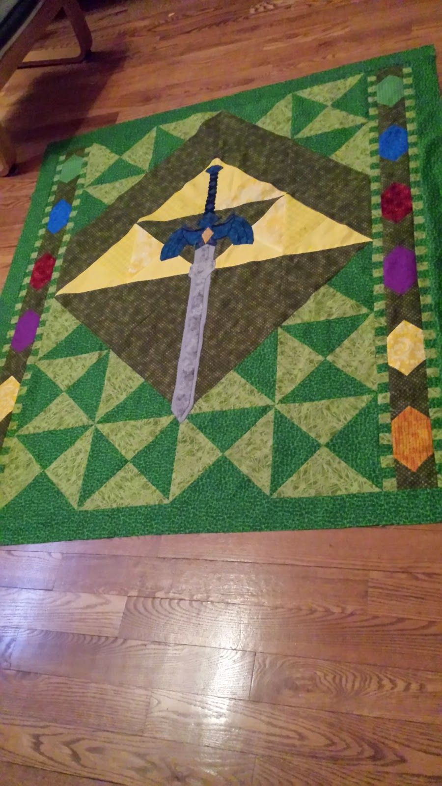 I created a Zelda themed quilt for a friend I've known since kindergarten using …
