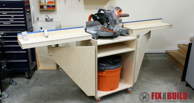 How To Build A Mobile Miter Saw Station With Plans Fixthisbuildthat Mitre Saw Station Miter Saw Installing Vinyl Plank Flooring