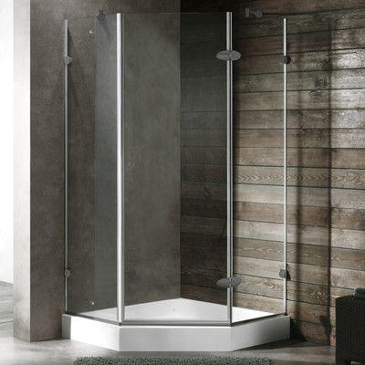Vigo Shower 34 063 X 73 Neo Angle Hinged Shower Enclosure With