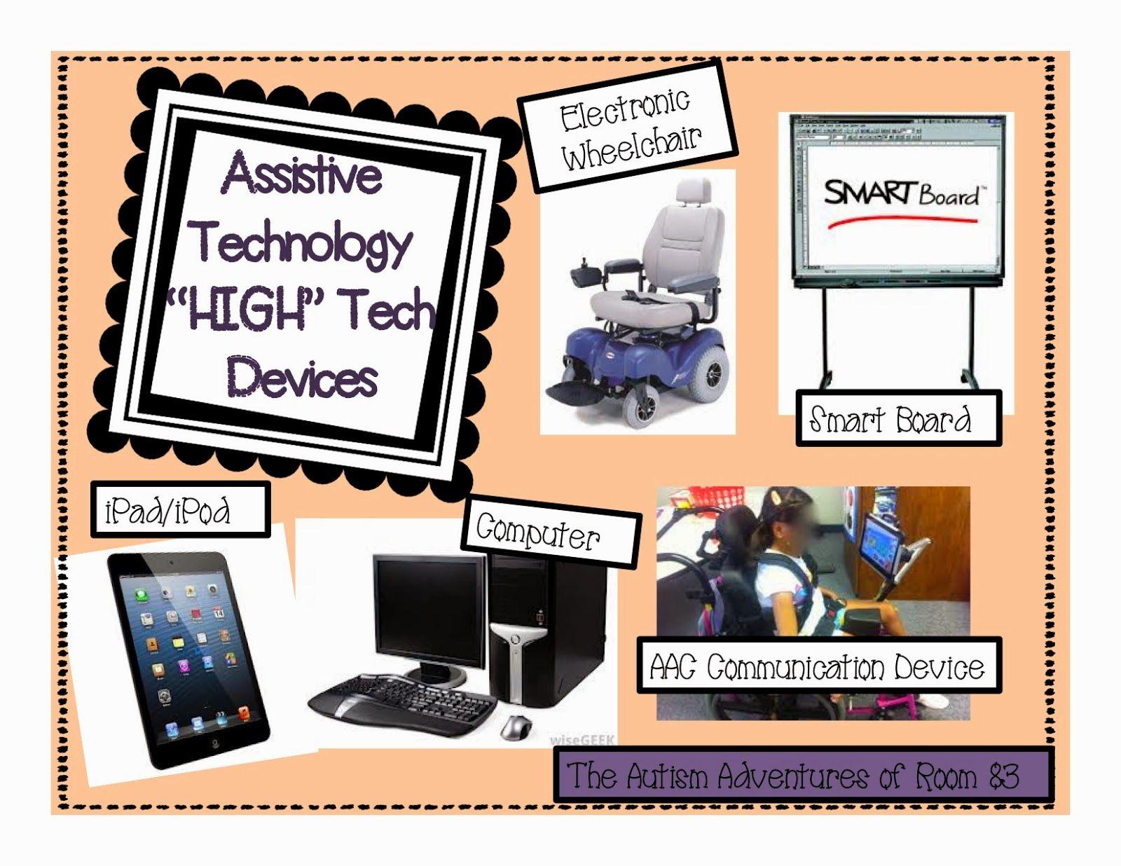 Low tech mid tech and high tech assisstive technology