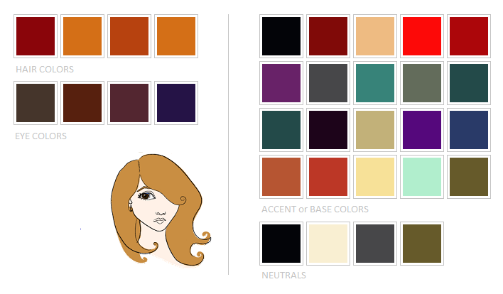 Four Different Types Of Redhead Color Analysis Dark Blue Eyes Blue Eye Color Color Analysis