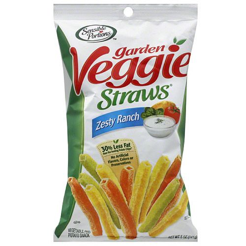 Sensible Portions Garden Veggie Straws Zesty Ranch Vegetable And Potato Snacks 16 Oz Walmart Com Veggie Straws Garden Veggie Straws Vegan Grocery