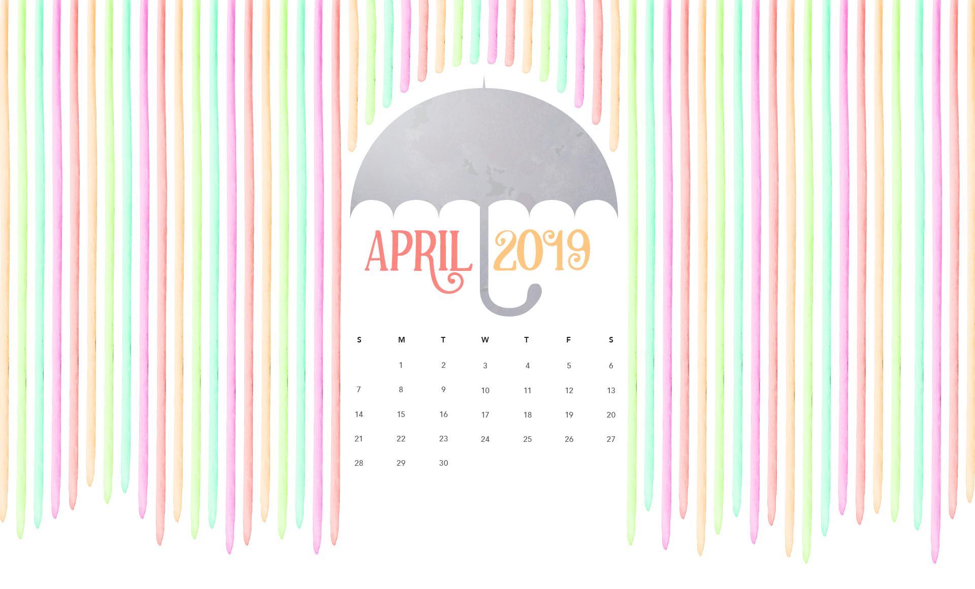 Beautiful April 2019 Calendar Wallpaper Desktop Wallpaper Calendar Calendar Wallpaper Calendar Design